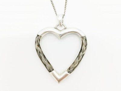 Halskette mit Pferdehaar 925 Silber