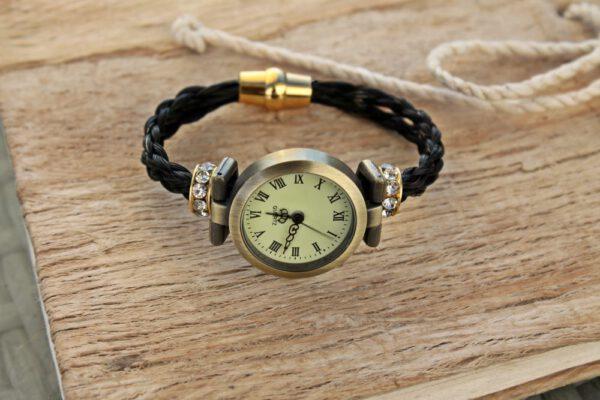 Pferdehaar Uhr rund