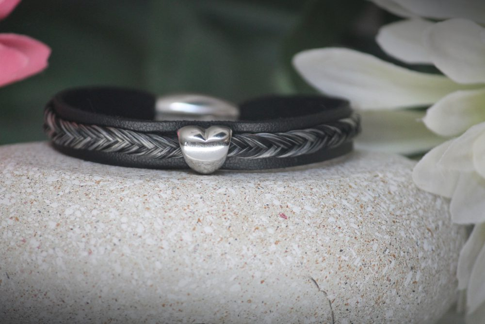 Pferdehaar Armband Leder