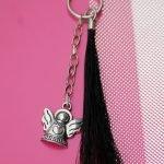 Schlüsselanhänger Pferdehaar Tassel und Engel