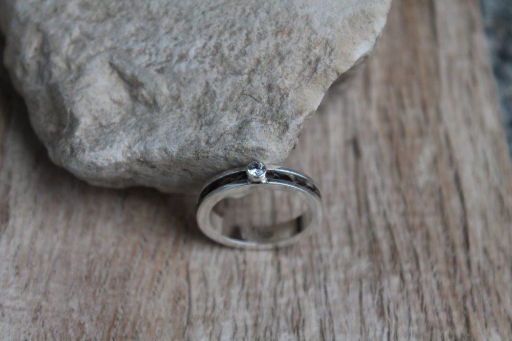 Pferdehaar Ring Zirkonia