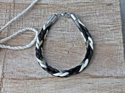 Pferdehaar Armband viereckig