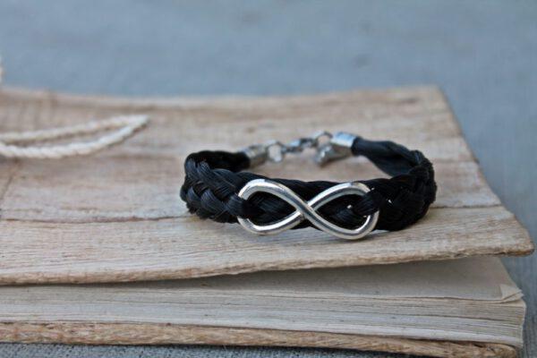 Pferdehaar Armband Infinity