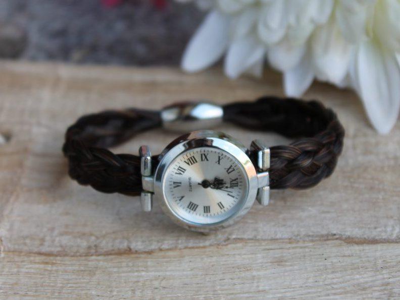 Pferdehaar Uhr flach