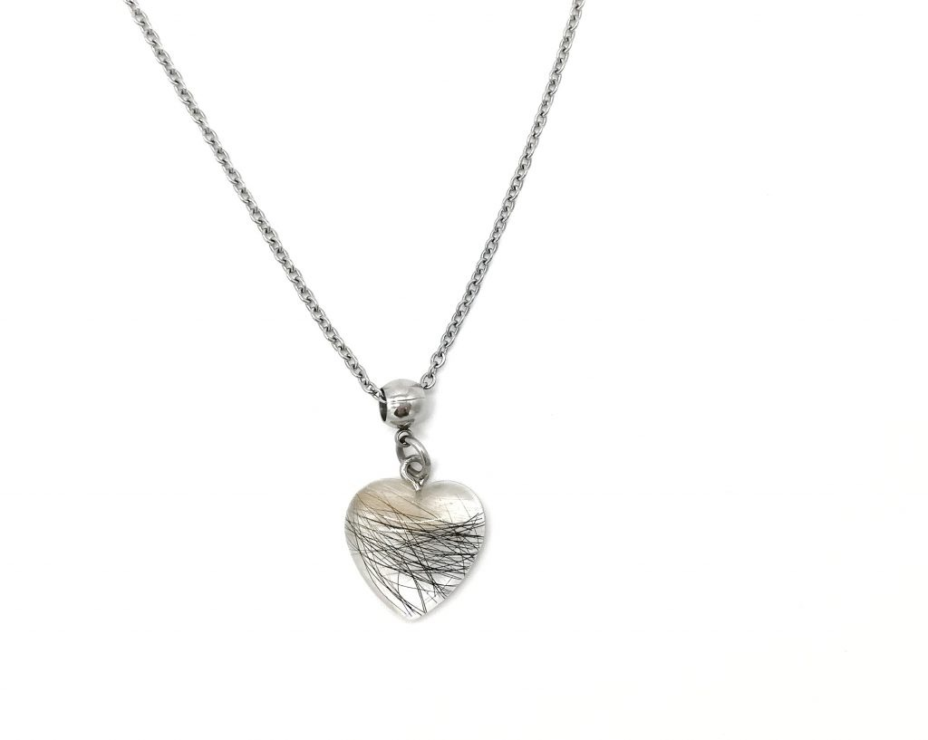 Halskette gegossen Herz klein Tierhaar